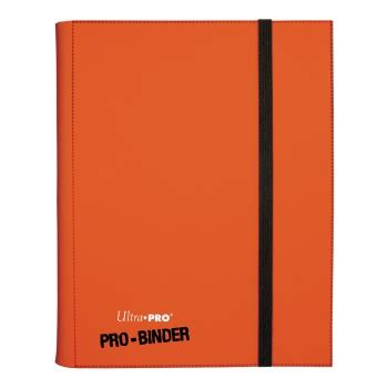 Ultra Pro 9 Pocket Orange Pro Binder ultra pro pro binder 9 pocket portfolio 360 cards orange trading card playerone be