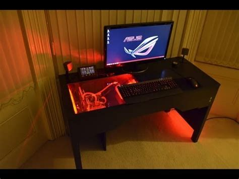 desk pc design custom watercooled pc within a desk design build unity