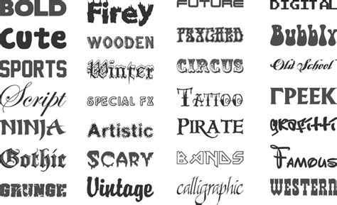 web design font exles 18 font exles and names images different font styles