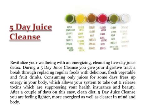 5 Day Detox by Detox Drinks Recipes For Cleansing Boston Recipe