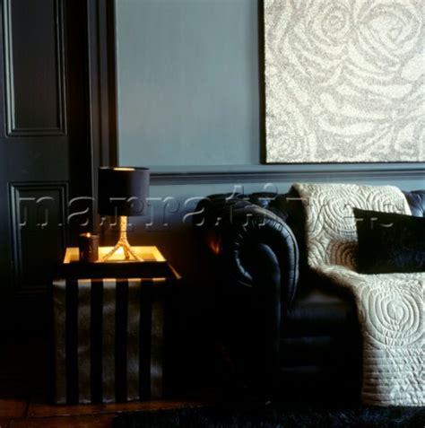 Blue Living Room Black Furniture El0093 Living Room With Blue Walls And Black F