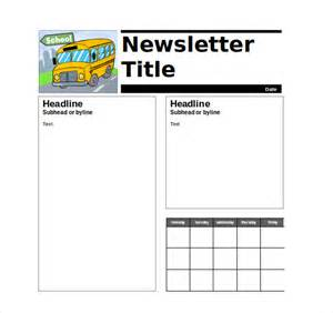 free newsletter templates for teachers 9 newsletter templates free sle exle
