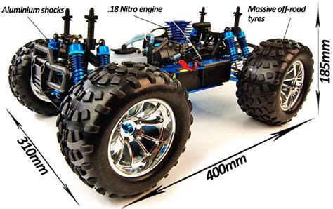 hsp nitro truck rc radio controlled hsp nitro bug crusher pro blue white