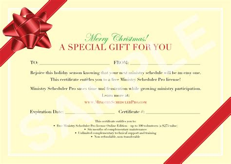 Sample Gift Certificate Template Free Christmas Gift Certificate Template Sample Msp Gift