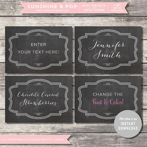 buffet cards template 7 best images of buffet food labels free printable free