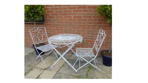Garden Bistro Table And 2 Chairs Antique Grey Vintage Garden Bistro Table And 2 Chairs Homegenies