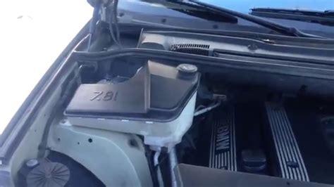 fix  bmw windshield washer tank leak  pump leak