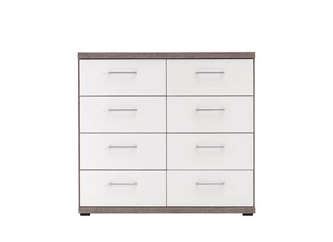 8 Drawer Chest White by Melbourne 8 Drawer Chest Oak And White Bed Sava