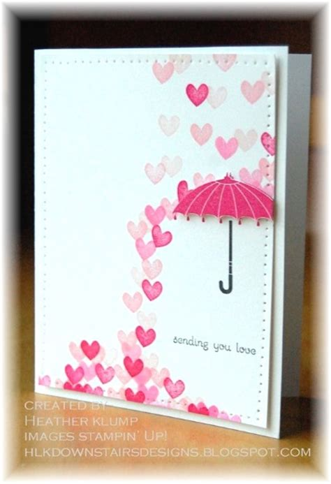Free Handmade Cards Ideas - adorable valentines day handmade card ideas pink lover