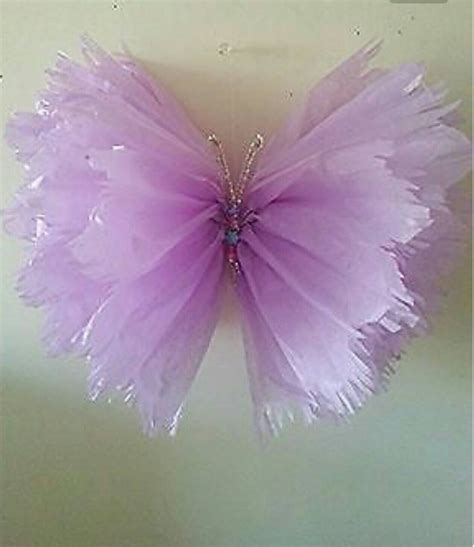 How To Make Butterflies Out Of Tissue Paper - large single frayed hanging tissue paper butterfly s