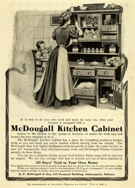 kitchen cabinet advertisement 1905 ad g p mcdougall sons kitchen cabinet vintage