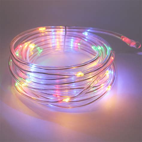 solar powered led rope lights 7m 50leds solar led string lights outdoor 9 colors rope led string solar powered