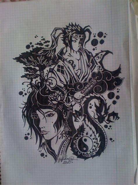 tattoo geisha and samurai geisha and samurai by rasen23 on deviantart