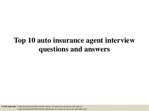 Car Insurance Questions by Top 10 Auto Insurance Questions And Answers