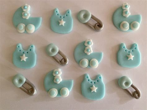 Edible Cupcake Decorations Baby Shower by Items Similar To Edible Fondant Boy Baby Shower Cupcake