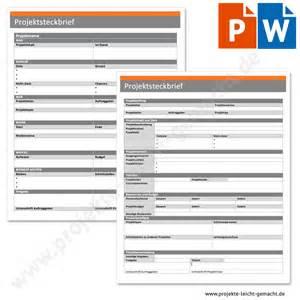 Word Vorlage Projekt Vorlage Projektsteckbrief Projektmanagement Vorlagen Und Kurse