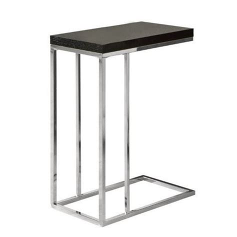 home design zymeth aluminum table l atlin designs metal accent end table in chrome and