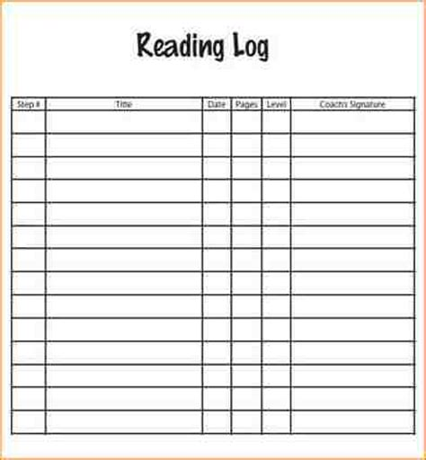 10  reading log pdf   academic resume template