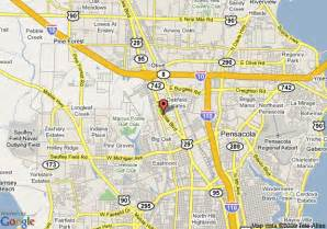 map of days inn pensacola fl pensacola