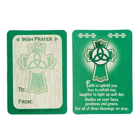 card supplies ireland blessing wallet cards with charm trading
