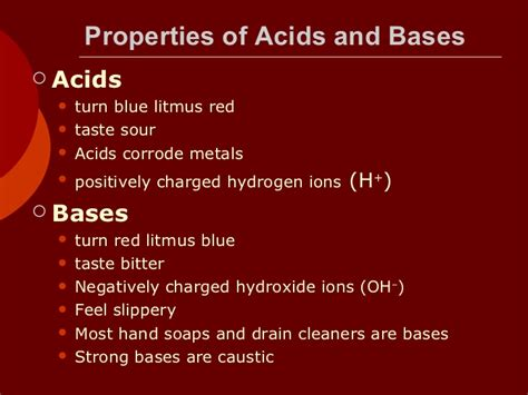 Acids And Bases Ppt Notes Ppt Of Acid