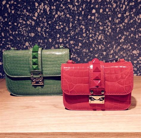 Exclusive The Colorful Valentino Crocodile Handbags by Bag Wish List Valentino Lock But Which One