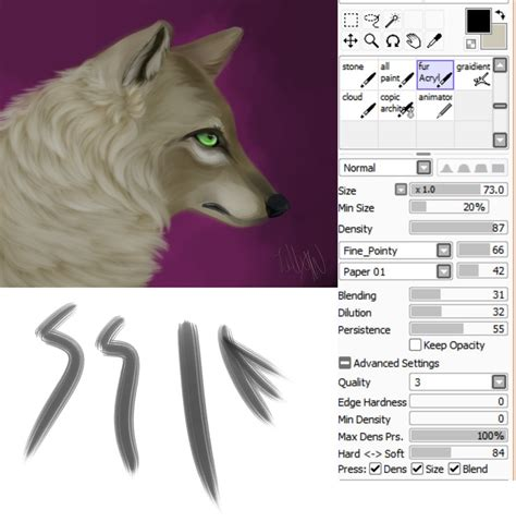 tool sai brush paint tool sai fur brush by glacierdraws on deviantart