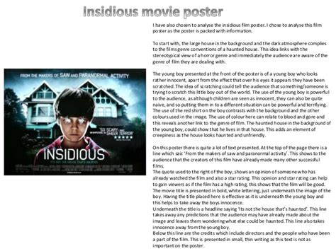 insidious movie plot analysis film film poster analysis