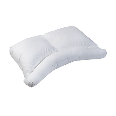 Firm Pillows For Side Sleepers by Healthsmart Side Sleeper Pillow With Curved Center Lobe