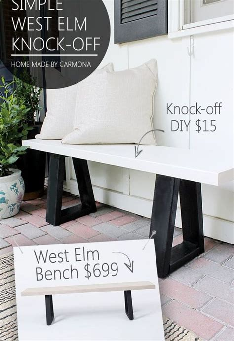 west elm x bench diy west elm bench knock off hometalk