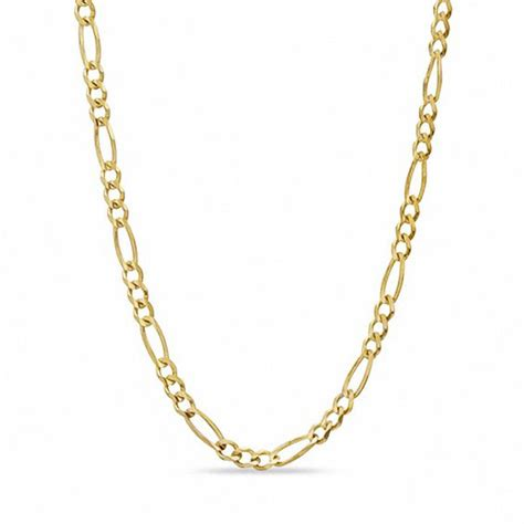 5 0mm figaro chain necklace in 10k gold 22 quot mens