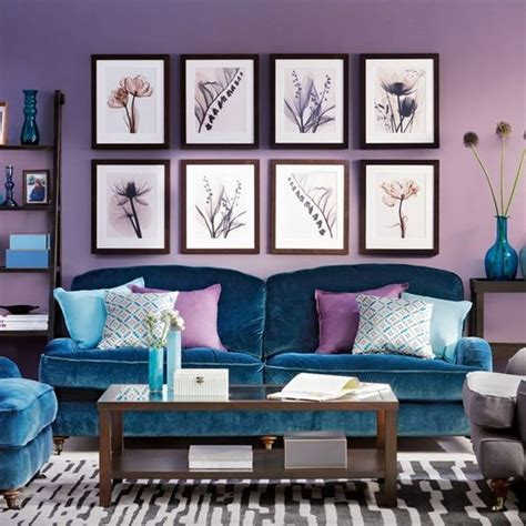 blue and purple room living room purple blue for the home