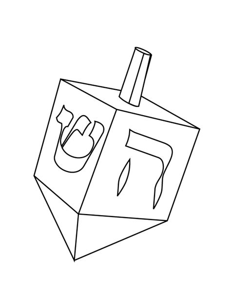 dreidel free printable coloring pages