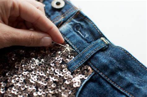como decorar un jeans con lentejuelas customizar ropa con lentejuelas ropa diy