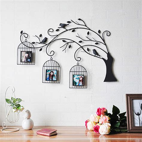 Decorative Sculptures For The Home Metal Wall Bird Cages H Wall Decal