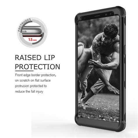 Hardcase Samsung A8 2018 Baby Skin 360 Cover Kombinasi 3 4 hybrid rubber shockproof armor protector cover for samsung galaxy note 8 ebay