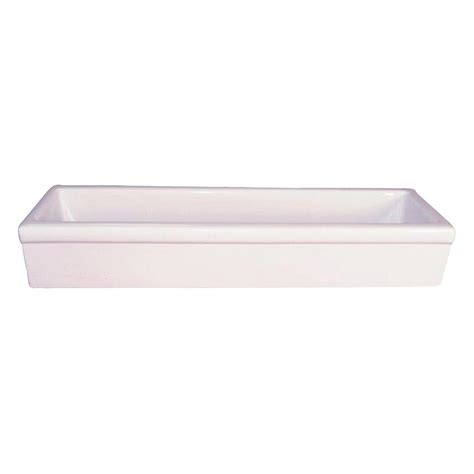 trough sinks home depot barclay products trough vessel in white t48fc the