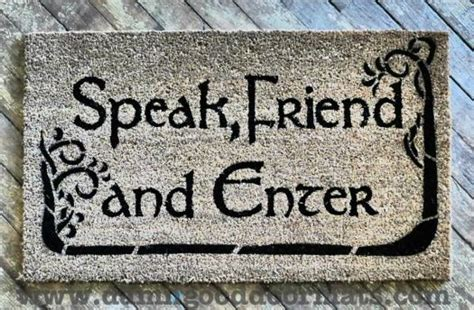 felpudo speak friend and enter 12 geeky doormats to greet your guests neatorama