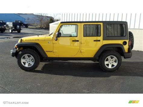 jeep rubicon yellow detonator yellow 2011 jeep wrangler unlimited rubicon 4x4