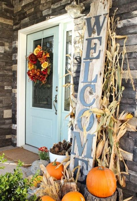 simple fall porch decor  halloween  thanksgiving