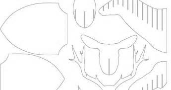 Cardboard Deer Template by Make Your Own Cardboard Deer For Free Pattern