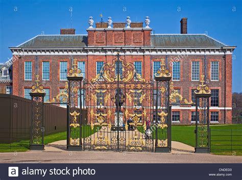 kensington palace london london kensington gardens the south gates of kensington palace march stock photo royalty free