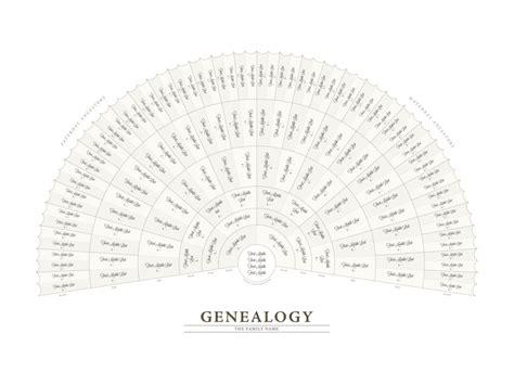 genealogy fan chart template genealogy fan chart adobe illustrator template