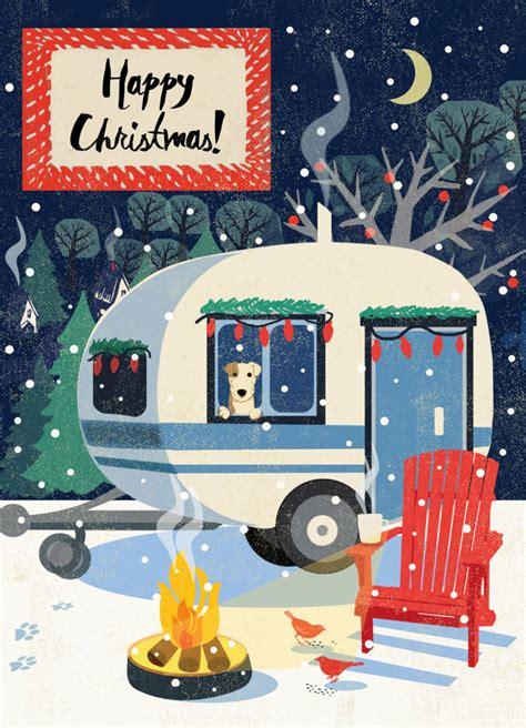 cosy christmas caravan card  rocket  notonthehighstreetcom