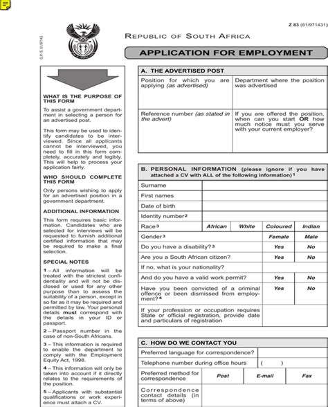 free z83 application form for pdf