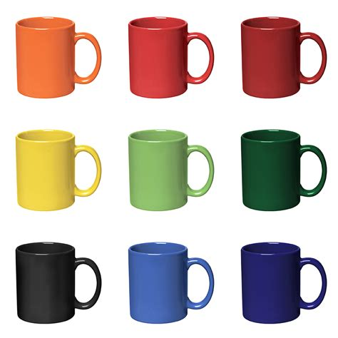 Home Decoration Shopping by Bright Color Logo Mugs Custom Printed With Your Logo
