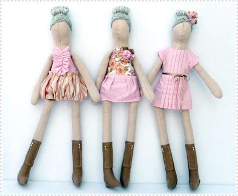How To Make Handmade Dolls - fabric fashion dolls by kooky handmade dolls current