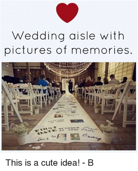 Wedding Aisle With Pictures Of Memories wedding aisle with pictures of memories this is a
