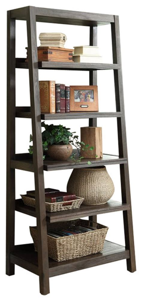 riverside furniture promenade ladder bookcase brown
