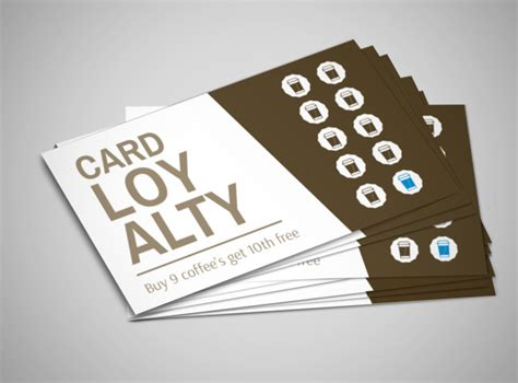 food beverage loyalty card templates mycreativeshop